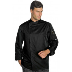 Veste cuisine homme manches longues boutons-pression Isacco
