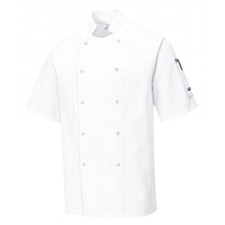 Veste cuisine unisexe manches courtes boutons-pression C733 Portwest