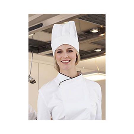 Toque droite cuisinier