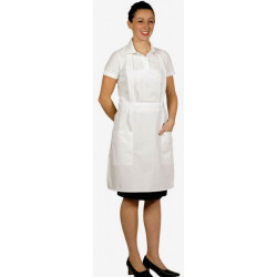 Tablier bavette blanc service dame