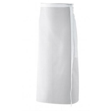 Tablier blanc cuisinier sans bavette sans poche