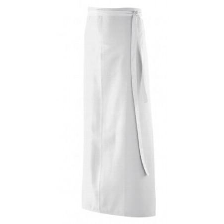 Tablier blanc cuisinier unisexe sans bavette sans poche