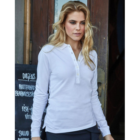 Dames luxury stretch poloshirt
