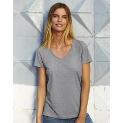 Dames T-shirt V-hals triblend