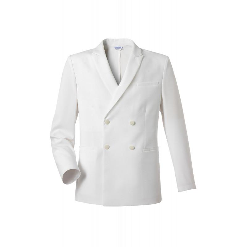 Veste croisee blanche homme