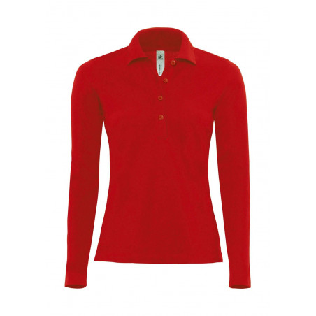 Dames stretch poloshirt