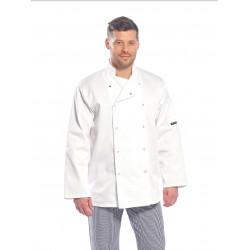 Veste cuisine unisexe manches longues boutons-pression C833 Portwest