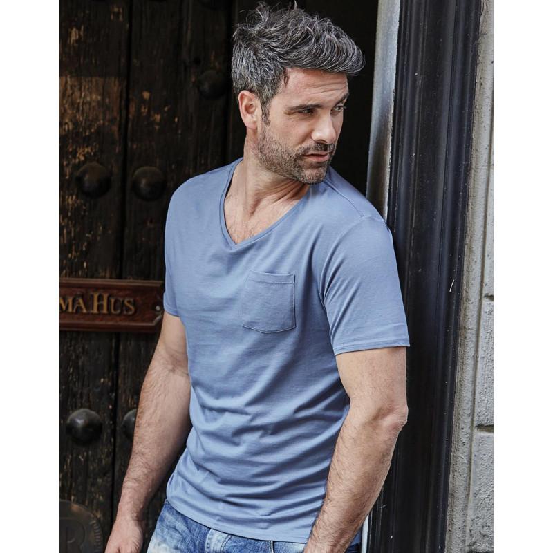 T-shirt col V homme poche poitrine