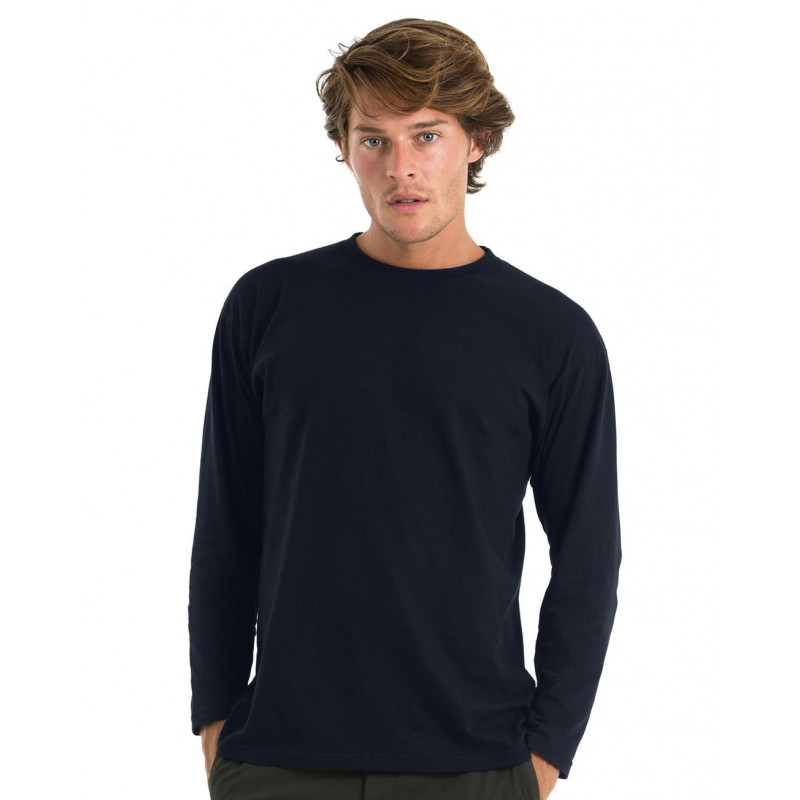 T-shirt manches longues col rond homme