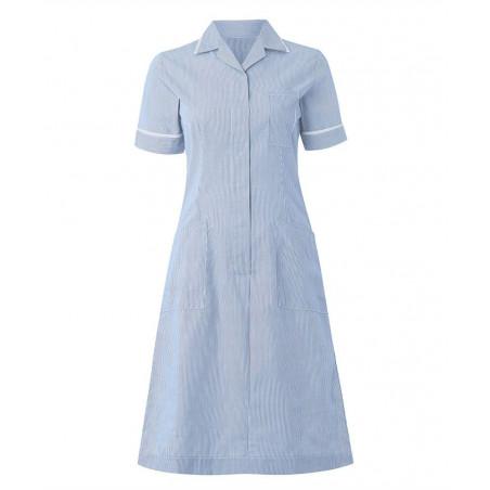 Kamermeisje jurk streepdessin