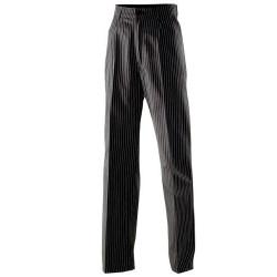 Pantalon de cuisine ligné