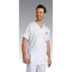 Tunique médicale unisexe coton