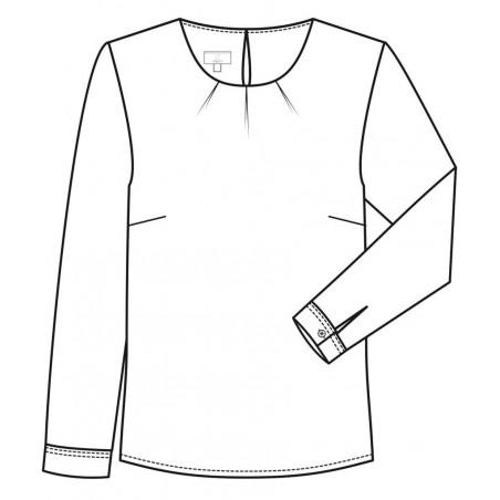 Chiffon blouse lange mouw
