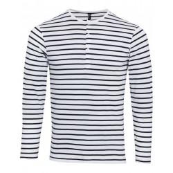 T-Shirt met lange mouw en 3 knopen