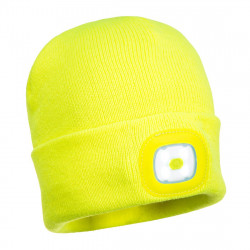 Bonnet tricot double led