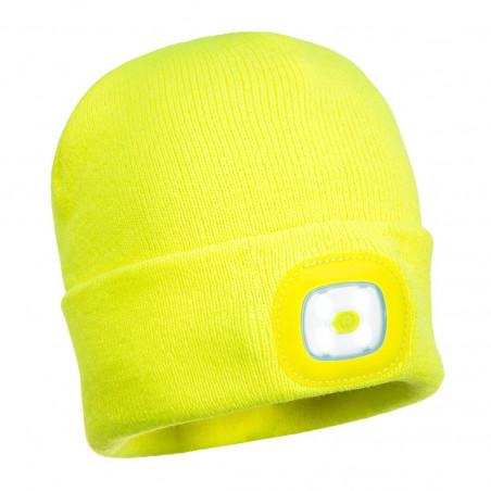 Bonnet tricot double led