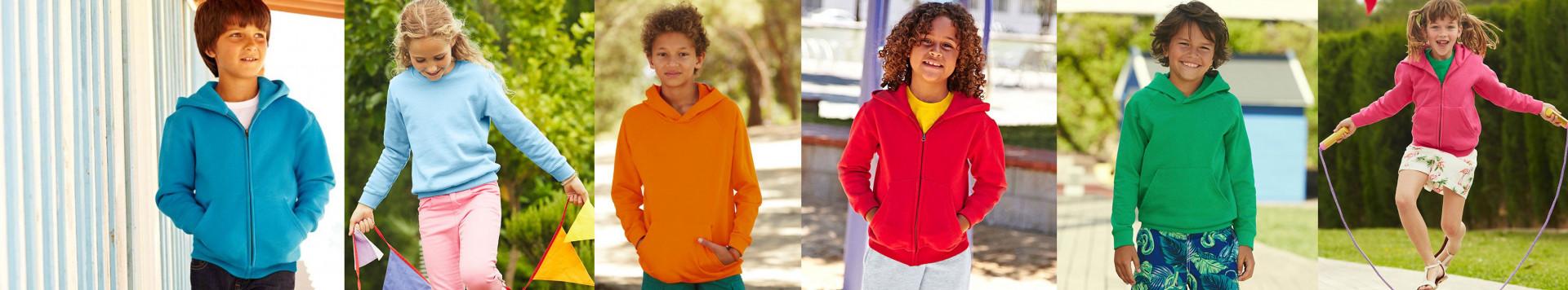 T-shirts, polos, sweatshirts et vestes enfants à la rentrée des classes.